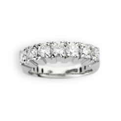 Veretta 7 diamanti in oro bianco Collezione Novecento Namuri Disponibile in due varianti: 0,70 ct 1,40 ct