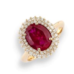 anello oro rosa rubino Namuri