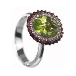 anello peridoto verde