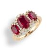anello trilogy rubini e oro rosa namuri