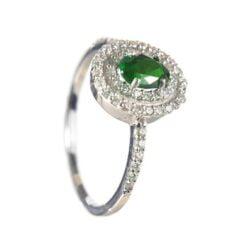 anello smeraldo ovale