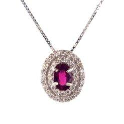 collana pendente rubino ovale