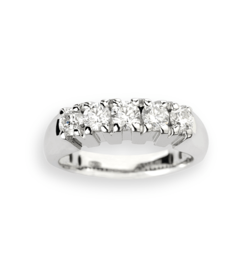 veretta 5 diamanti in oro bianco Namuri