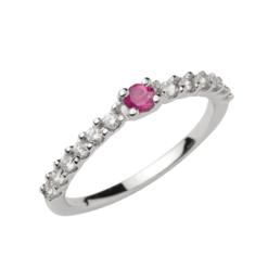 veretta rubino centrale e diamanti