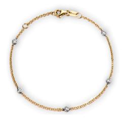 Bracciale Castoni Oro Giallo e Diamanti