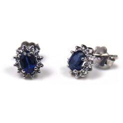orecchini zaffiri e diamanti