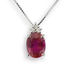 collana pendente rubino ovale namuri