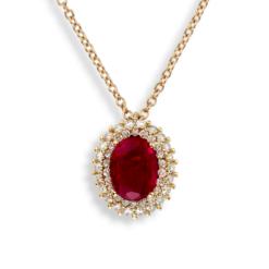 collana ciondolo ovale rubino collezione donna Rubino:2.00Ct.