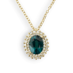 collana ciondolo ovale smeraldo collezione donna Smeraldo:1.30 Ct.