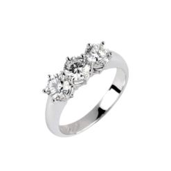 anello trilogy oro e diamanti