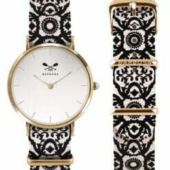 orologio cassa dorata ricamo maiolica Barbosa