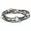 collana perle ematite grigio scuro Bliss