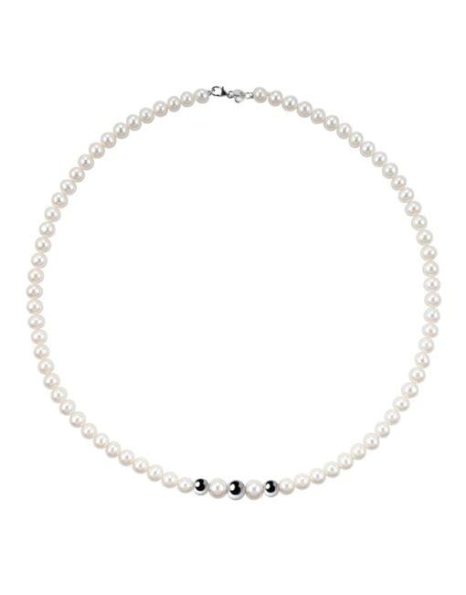 Collana perle oro bianco Bliss.