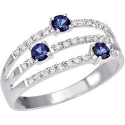 anello zaffiri e diamanti Bliss