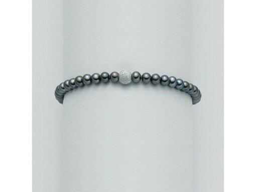 bracciale perle nere Yukiko
