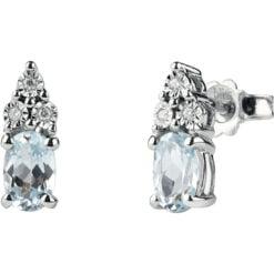 orecchini acqua marina e diamanti Bliss