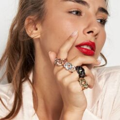 anello bronzo dorato rosè Unoaerre