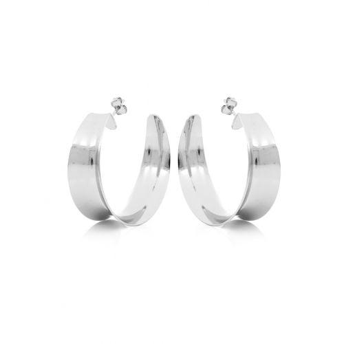 orecchini in bronzo argentato