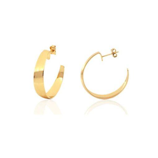 orecchini in bronzo dorato