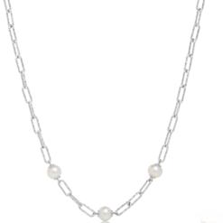 collana argento e perle Miluna