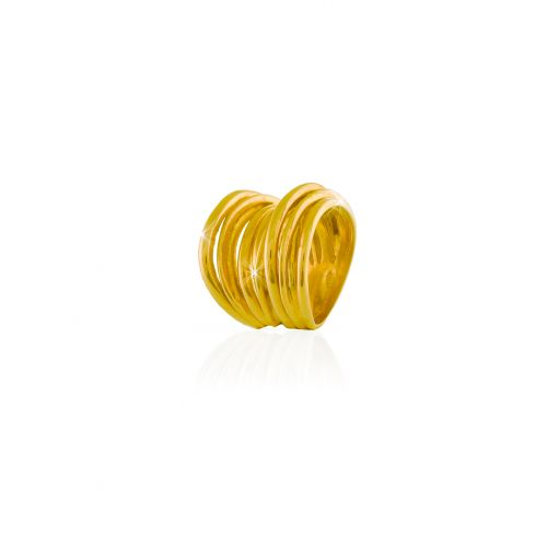 anello Unoaerre in argento dorato