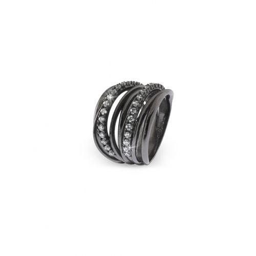 anello in argento brunito Unoaerre