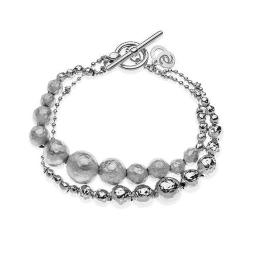 bracciale sfere argento satinato Eclat