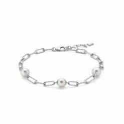 bracciale argento e perle Miluna