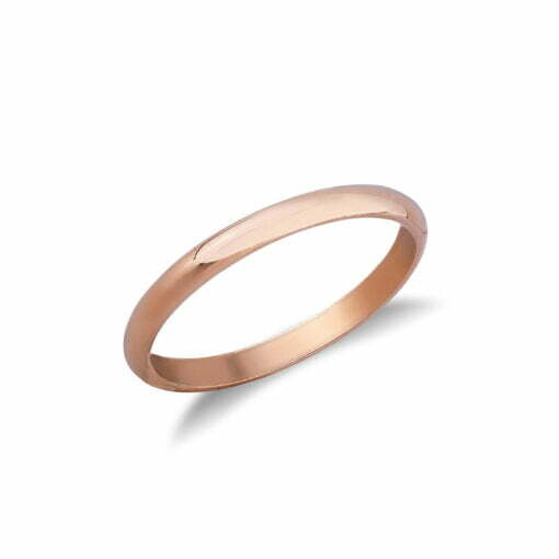 Fede uomo francesina oro rosa De Stefano