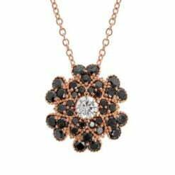 collana fiore diamanti neri