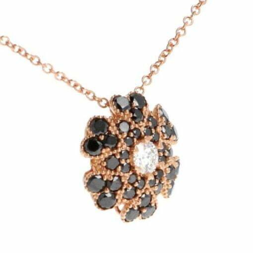 collana fiore diamanti neri 2