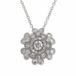 collana fiore oro bianco e diamanti