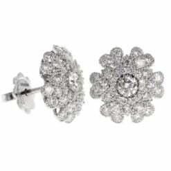 orecchini fiore oro bianco e diamanti