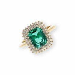 anello smeraldo ottagonale Namuri