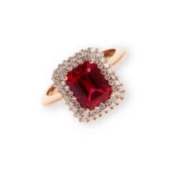 anello ottagonale rubino namuri