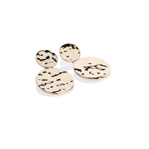 orecchini pendenti argento dorato Eclat