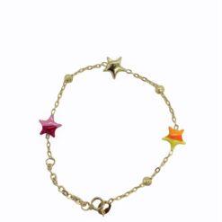 bracciale bambina oro stelle