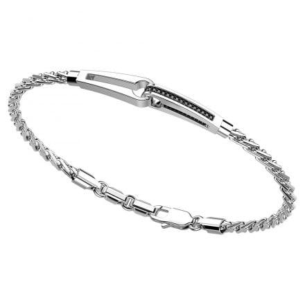 bracciale argento con inserti Zancan