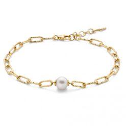 bracciale argento perla Miluna