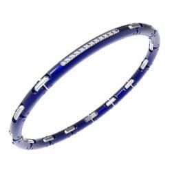 bracciale uomo acciaio blu Zancan