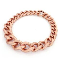 collana in bronzo rosè satinata Unoaerre