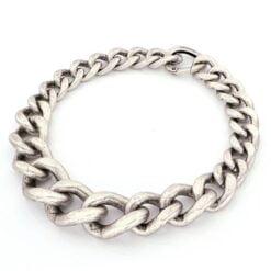 collana in bronzo argentato satinato Unoaerre