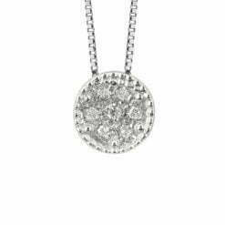 Collana oro pavé diamanti Bliss
