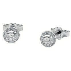 orecchini oro bianco e diamanti Bliss