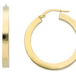 orecchini cerchio squadrato oro