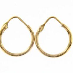 orecchino anelletta oro giallo