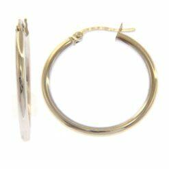orecchini cerchio oro bianco