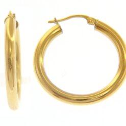 orecchini in oro a cerchio