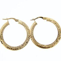 orecchini cerchio oro martellati