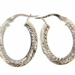 orecchini cerchio ovale in oro